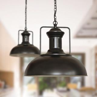 Regent Vintage Pendant Light Matt Black