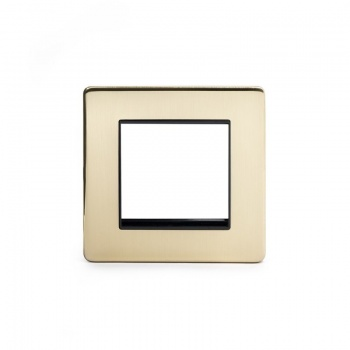 The Savoy Collection Satin Brass Period Metal Single Data Plate 2 Modules
