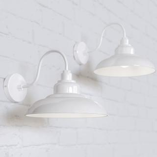 Portland Reclaimed Style Wall Light Pure White