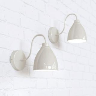 Oxford Vintage Wall Light Clay White Cream