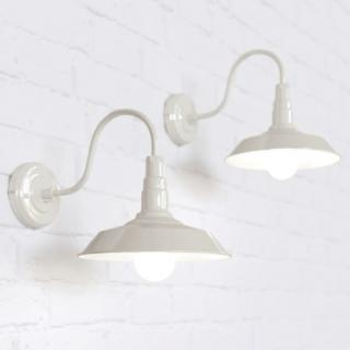 Argyll Industrial Wall Light Clay White Cream