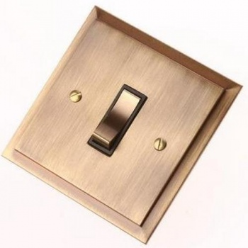 Single Step Antique Brass Rocker Switches