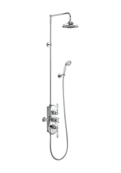 Spey Thermostatic Exposed Shower Two Outlet Valve