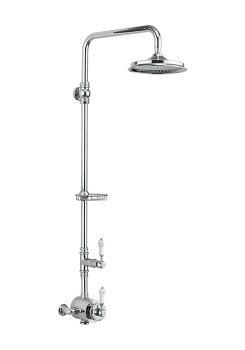 Stour Thermostatic Exposed Shower Valve Single Outlet & Soap Basket