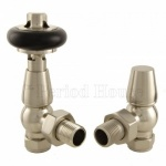 Windsor Cast Iron Radiator Valve Satin Nickel