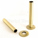 Cast Iron Radiator Pipe Shrouds - Polished Brass