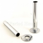 Cast Iron Radiator Pipe Shrouds - Polished Chrome
