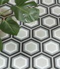 Patisserie Monochrome Pattern Tile