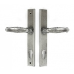 Pewter Patina Cottage Slimline Lever Espag. Lock Set