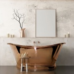 BC Designs Copper Boat Bath 1700 Copper Inner/Copper Outer