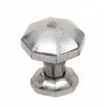 Natural Smooth Octagonal Cabinet Knobs - Small