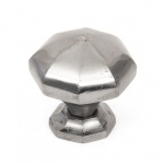 Natural Smooth Octagonal Cabinet Knobs - Large