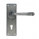 Pewter Patina Avon Pewter Lever Lock Set
