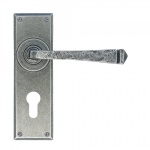 Avon Pewter Euro Lever Lock Set