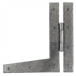 Pewter Patina 9'' Hl Hinge (Pair)