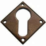 Bronze Diamond Euro Escutcheon