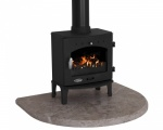 Travertine Curved Stove Hearth