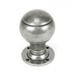 Pewter Regency Mortice/Rim Knob Set