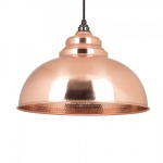 Hammered Copper Interior Harborne Pendant