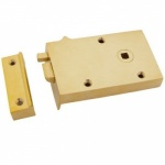 Right Hand Bathroom Latch - Brass or Iron