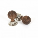Rosewood Mortice/Rim Beehive Knob Set - Polished Nickel Roses