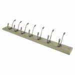 Farmouse Hat & Coat Rack - Natural Smooth & Olive Green