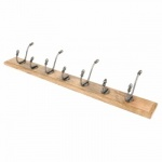 Country Hat & Coat Rack - Natural Smooth & Timber