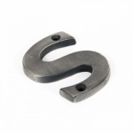 Antique Pewter Letter S