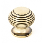 Aged Brass Beehive Cabinet Knob - Small