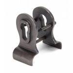 Aged Bronze 50mm Euro Door Pull (Back To Back Fixings)