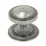 Pewter Art Deco Centre Door Knob