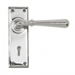 Polished Chrome Newbury Lever Lock Set