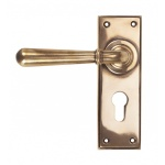 Polished Bronze Newbury Lever Euro Set