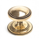 Polished Bronze Art Deco Centre Door Knob