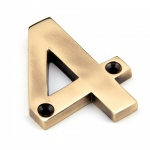 Polished Bronze Numeral 4