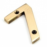 Polished Bronze Numeral 7