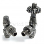 Abbey TRV & LS Angled Radiator Valve 15mm x 1/2 inch Pewter