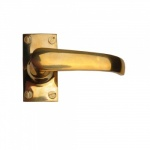 Cardea Brass Lever Latch Short Plate