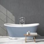 BC Designs Acrylic Boat Bath with Aluminium Plinth