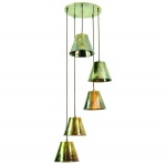 Map Room 5 Light Cluster - Antique Brass