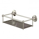 Arcade Bathrooms - Wall-mounted wire basket 62mm deep (155mm by 330mm)