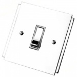 Art Deco Polished Chrome Rocker Switches