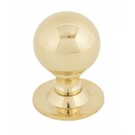 Polished Brass Ball Cabinet Knob - Small