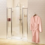 Burlington Bathrooms -  Hinged Door & In-line Panel