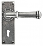 Finesse Durham Lever Handle on Lock Backplate