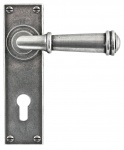 Finesse Durham Lever Handles Euro Lock on Backplate 72mm