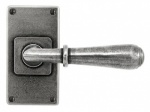 Finesse Lever on Short Latch Backplate