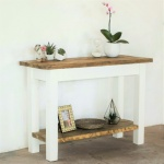 Farmhouse Console Table with Shelf