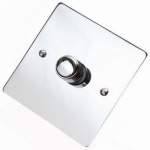 Flat Victorian Polished Chrome Dimmer Switch