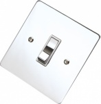 Flat Victorian Polished Chrome Rocker Switches